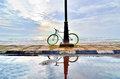 A Bicycle With Reflection Royalty Free Stock Image - 37196356