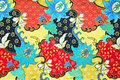 Colorful Southeast Asian Style Batik Fabric Texture Royalty Free Stock Images - 37198659
