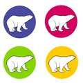 Polar Bears Icons Or Logos Royalty Free Stock Photography - 3728087