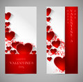 Abstract Valentine Banners With Heart Royalty Free Stock Photo - 37210645