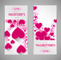 Abstract Valentine Banners With Heart Stock Photos - 37210683