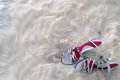 White Shoe And Beads Royalty Free Stock Image - 37215126