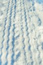 Tire Tracks In Snow Royalty Free Stock Photography - 37220337