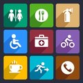International Service Signs Flat Icons Set 39 Stock Image - 37229571