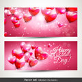 Valentine S Day Pink Banners Royalty Free Stock Photo - 37238045