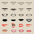 Vector Lips Royalty Free Stock Images - 37250679
