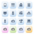 Electronics Icons On Color Buttons. Stock Images - 37254374