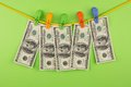 Money On Clothespins Stock Photography - 37254802