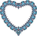 Vintage Ornamental Heart Shape. Valentines Day Car Royalty Free Stock Images - 37260999