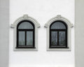 House Front With Two Arched Windows, Retro Style Stock Image - 37263301
