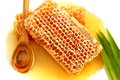 Close Up Delicious Golden Honeycomb On White Background.Stock Ph Royalty Free Stock Photos - 37264258