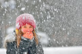 Girl Frozen In Snow Royalty Free Stock Images - 37265059