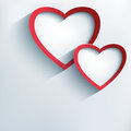 Valentine Background With Two Stylish 3d Hearts Royalty Free Stock Images - 37269119