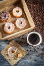 Fresh Donuts To Take Away With Coffee Stock Images - 37281814