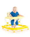 Little Child In The Baby Walker. Royalty Free Stock Image - 37282896