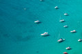 High Angle View Of The Marina In Calpe, Alicante, Spain Stock Images - 37345894