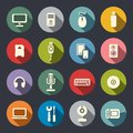 Computer Flat Icons Set Royalty Free Stock Images - 37345919