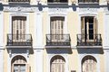 Mediterranean Architecture In Spain. Old Apartment Building In Madrid. Stock Image - 37347741