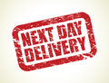 A Red Next Day Delivery Stamp Stock Image - 37351881