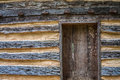 Rustic Log Cabin With Door Royalty Free Stock Photo - 37353575