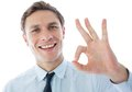 Businessman Showing Ok Sign Stock Photography - 37367822