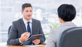 Recruiter Checking The Candidate During Job Interview Stock Image - 37376111