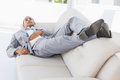 Businessman Napping On The Couch Royalty Free Stock Images - 37394659