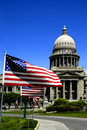 State Capital With Flags Royalty Free Stock Image - 3740456