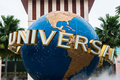 Large Rotating Globe Fountain In Front Of Universal Studios Royalty Free Stock Photo - 37403305
