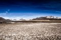 Desert And Mountain Over Blue Sky And White Clouds On Altiplano,Bolivia Stock Image - 37412791