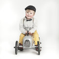 Little Boy With Toy Tractor Stock Photos - 37418133