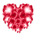 Red Heart Of Flowers Royalty Free Stock Photos - 37418478