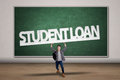 Student Hold A Student Loan Sign Royalty Free Stock Images - 37427349