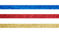 Gold, Red And Blue Ribbon Royalty Free Stock Image - 37434016