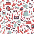 Seamless Woman Accessories Background Stock Images - 37434554