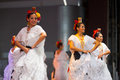 Female Mexican Folk Dancers White Dress Beautiful Royalty Free Stock Photos - 37442688