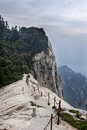 China:the Way To Top Of Mountain Hua Royalty Free Stock Image - 37442756