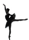 Young Woman Ballerina Ballet Dancer Dancing Silhouette Stock Photography - 37447282