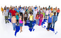 Large Group Of World People With World Map Stock Photos - 37448213