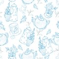 Vintage Tea Porcelain. Seamless Pattern Royalty Free Stock Image - 37467536