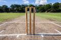 Cricket Wickets Playing Pitch Grounds Royalty Free Stock Photography - 37471917