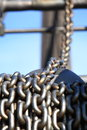 Old Rusty Chain And Crane Industry Machine Royalty Free Stock Image - 37474726