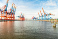 Port Terminal For Loading And Offloading Ships Royalty Free Stock Images - 37475389