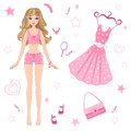 Paper Doll With Clothes Stock Image - 37498331