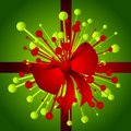 Christmas Gift With Bow Background Royalty Free Stock Image - 3751766