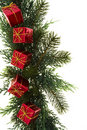 Green Garland With Presents Royalty Free Stock Image - 3757566