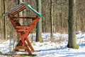 Feeder For Roe Deer, In Winter Royalty Free Stock Images - 37504479