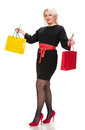 Pretty Woman With Shopping Bags Royalty Free Stock Images - 37504789