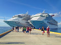 Two Cruise Ships Royalty Free Stock Photo - 37506115