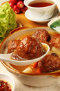Braised Pork Balls In Soy Sauce Royalty Free Stock Photography - 37509987